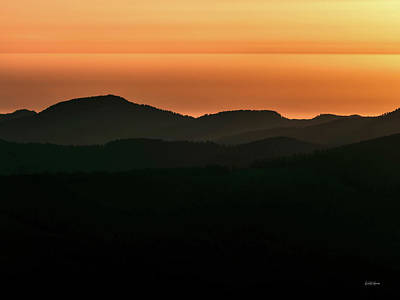 Photograph - Coastal Range Sunset. by Leland D Howard