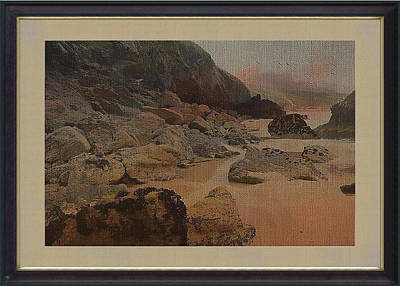 Mixed Media - Coastal Rocks And Sand by Clive Littin