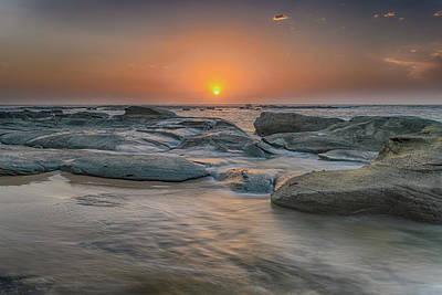 Photograph - Coastal Rocky Sunrise by Merrillie Redden