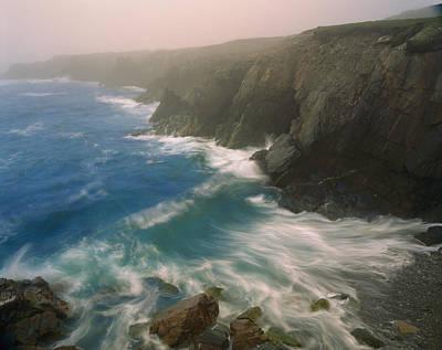 Photograph - Coastline In Fog, Cape Breton Island by Scott Leslie/ Minden Pictures