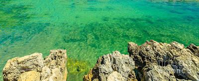 Photograph - Coastline Reef Sea Backgound by Benny Marty
