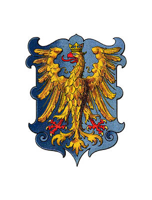 Drawing - Coat Of Arms Of The Duchy Of Friuli by Helga Novelli