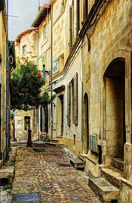 Photograph - Cobbled Street In Arles - Vintage Version by Weston Westmoreland