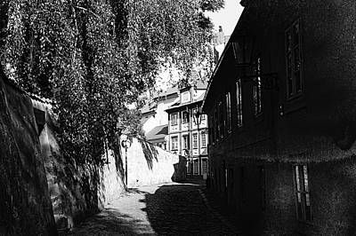 Photograph - Cobblestoned Kapucinska Street. Old Prague by Jenny Rainbow