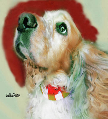 Digital Art - Cocker Spaniel Painting by Miss Pet Sitter