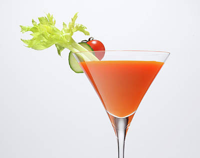 Photograph - Cocktail Glass With Vegetables by Nicholas Eveleigh