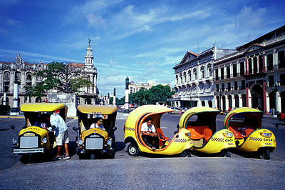 Photograph - Coco Amarillo, Funny Taxis Waiting On by S Lubenow / Look-foto