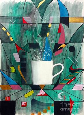 Painting - Coffee Abstraction by John Lyes