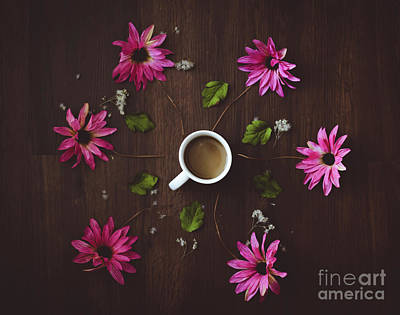Photograph - Coffee And Flowers by Adrian DeLeon