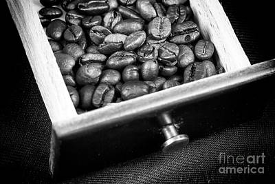 Photograph - Coffee Beans In A Box by John Rizzuto