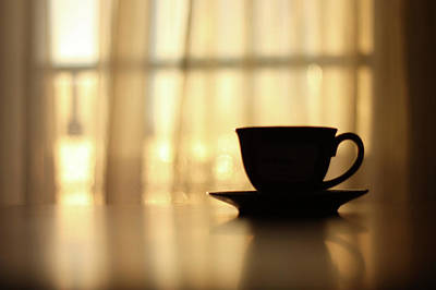 Sunlight Photograph - Coffee Cup by Angelika Kaczanowska