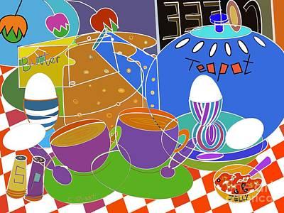Digital Art - Coffee, Eggs And Toast by Caroline Street