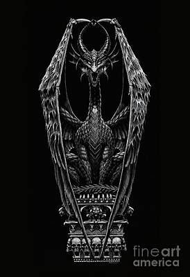 Drawing - Coffin Dragon by Stanley Morrison