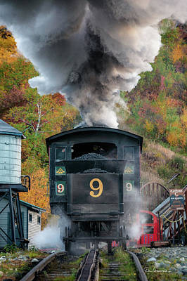 Photograph - Cog Railway Steamer 2876 by Dan Beauvais