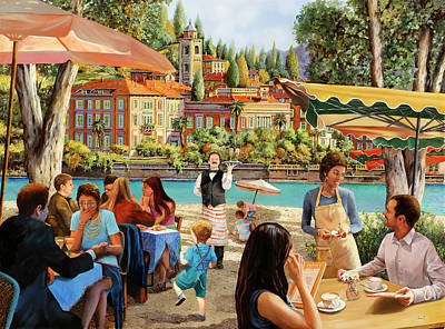 Royalty-Free and Rights-Managed Images - Colazione Al Lago by Guido Borelli