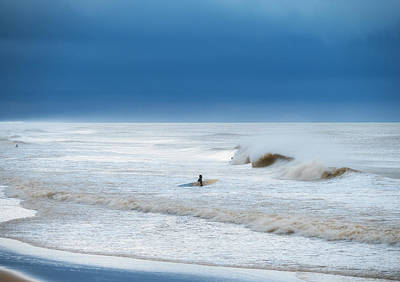 Photograph - Cold And Stormy Ocean by David Kay