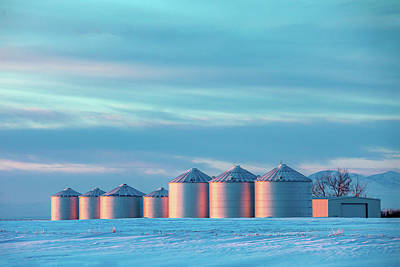 Photograph - Cold Colorful Bins by Todd Klassy