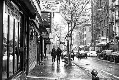 Photograph - Cold On Bleecker Street Greenwich Village by John Rizzuto