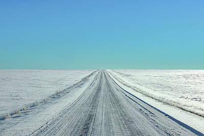 Photograph - Cold Rural Road by Todd Klassy