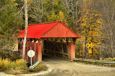 Photograph - Cole Hill Road Covered Bridge by Adam Jewell