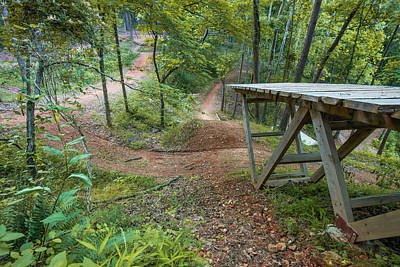 Photograph - Coler Mountain Bike Trail And Jump - The Hub Bentonville by Gregory Ballos