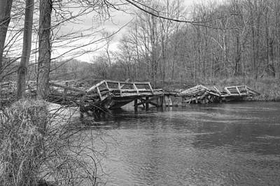 Photograph - Collapsed Bridge At Waterloo Village by Christopher Lotito