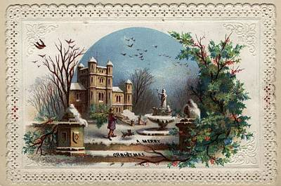 Collecting Holly Art Print by Hulton Archive