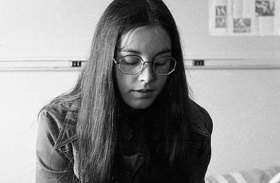 Photograph - College Student With Octagonal Eyeglasses, 1972 by Jeremy Butler