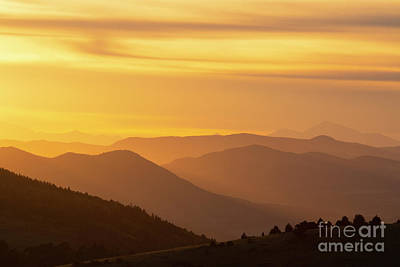 Steve Krull Royalty-Free and Rights-Managed Images - Collegiate Peaks Sunset by Steve Krull