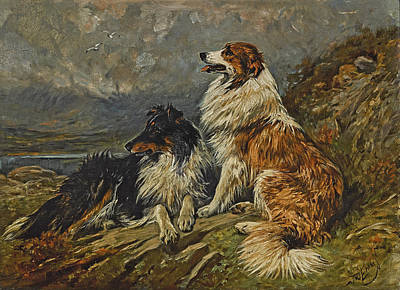 Painting - Collies On The Moor by John Emms