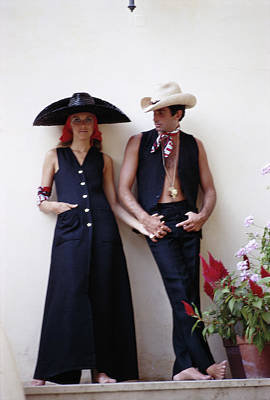Hat Photograph - Collins And Hamilton by Slim Aarons