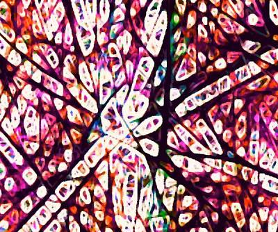 Digital Art - Collision 1 Magenta by Ajp