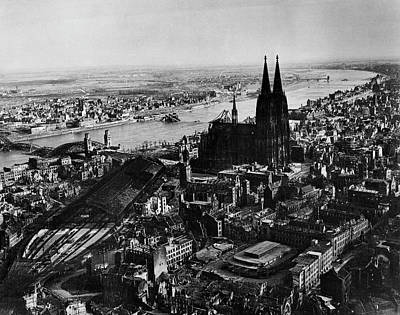 Photograph - Cologne After Bombing by Margaret Bourke-white