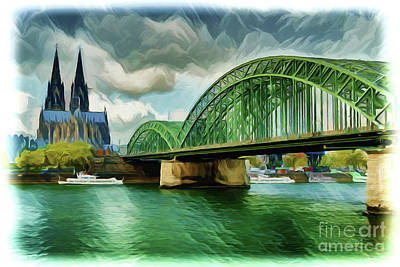 Painting - Cologne Germany A1928 by Ray Shrewsberry
