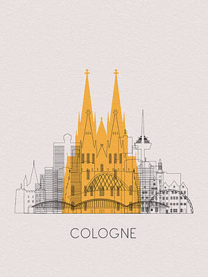 Digital Art - Cologne Landmarks by Inspirowl Design