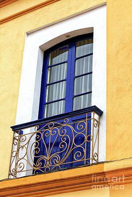 Photograph - Colombian Blue Window In Zipaquira by John Rizzuto