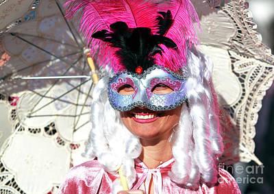 Photograph - Colombina At Carnevale Di Venezia 2009 by John Rizzuto