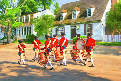 Photograph - Colonial American Fife And Drum Corps by Mark E Tisdale