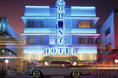 Photograph - Colony Hotel, Art Deco District, Miami by Ulli Seer / Look-foto