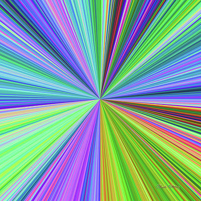 Digital Art - Color Burst 1 by Chuck Staley