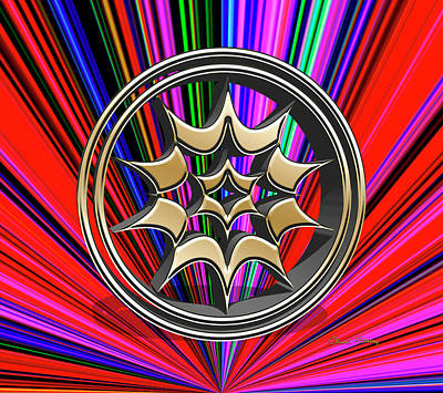 Digital Art - Color Burst 11 3d by Chuck Staley