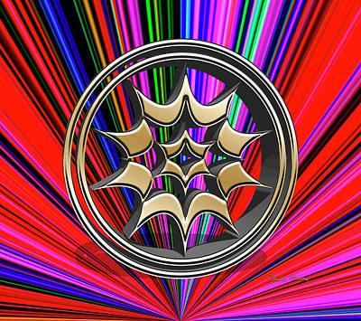 Digital Art - Color Burst 11 3d by Chuck Staley