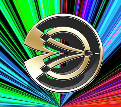 Digital Art - Color Burst 12 3d by Chuck Staley