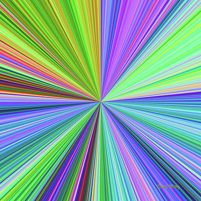 Digital Art - Color Burst 2 by Chuck Staley