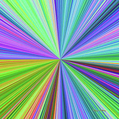 Digital Art - Color Burst 4 by Chuck Staley