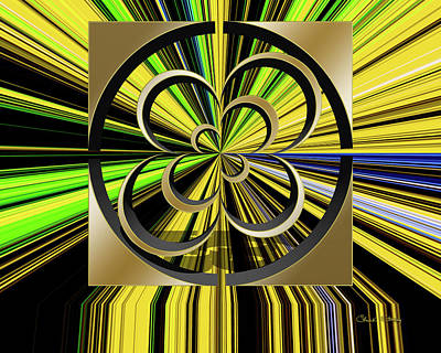 Digital Art - Color Burst 6 3 D by Chuck Staley