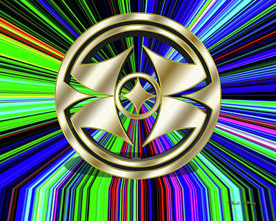 Digital Art - Color Burst 8 3d by Chuck Staley