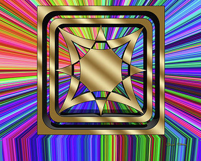 Digital Art - Color Burst 9 3d by Chuck Staley