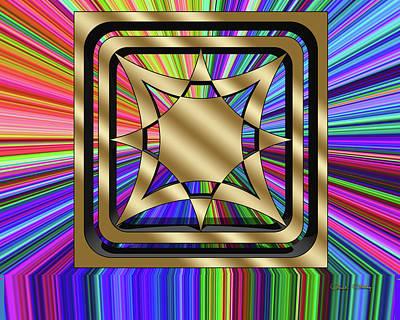 Digital Art - Color Burst 9 3d by Chuck Staley