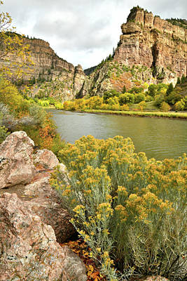 Photograph - Color Comes To Glenwood Canyon And The Colorado River by Ray Mathis